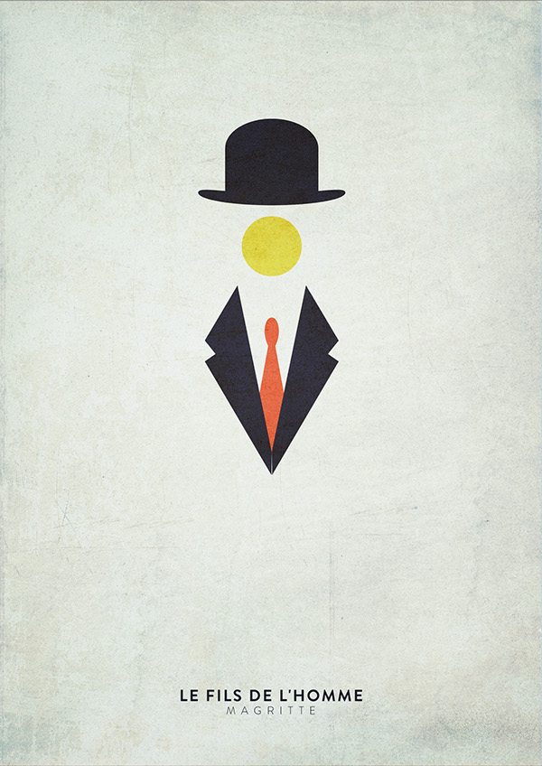 Minimalist version of famous paintings on behance for Famous minimalist designers