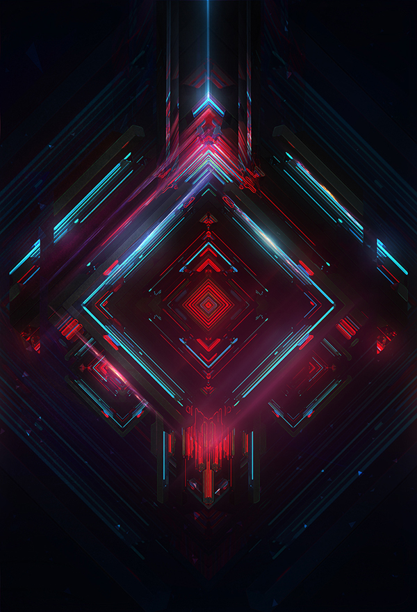 geometric abstract 3D