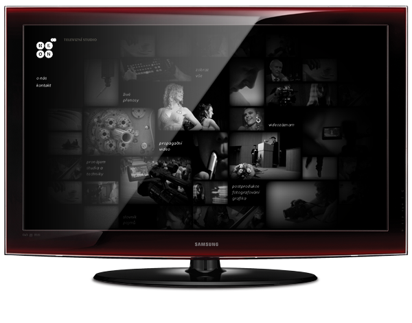 neon neon tv microsite dark web Webdesign concept STUDENTS WORK