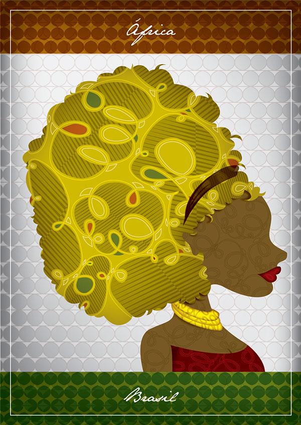 african africa woman mulher negra Ilustração Brasil Brazil