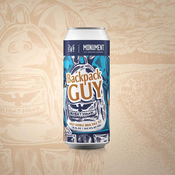 Beer Can Label Design - Backpack Guy Hazy Dbl. IPA