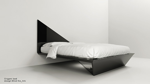 Origami bed design by Mind the Ark Architectural office on Behance