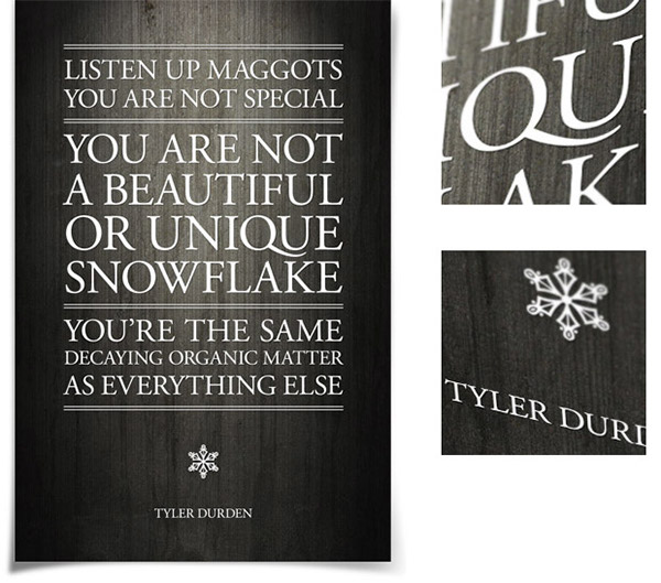 movie quote posters on behance