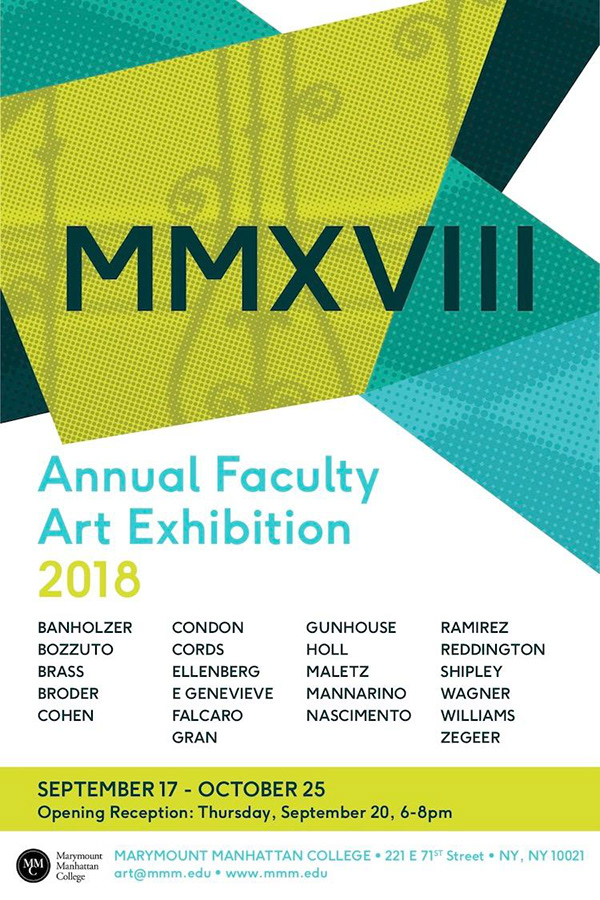 Faculty Show At Marymount Manhattan College On Sva Portfolios