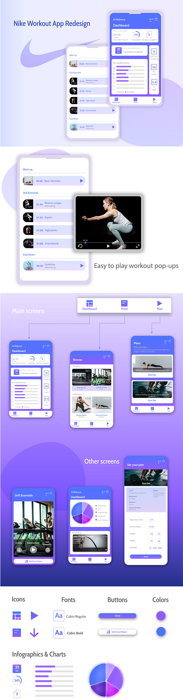 Nike Workout App Redesign