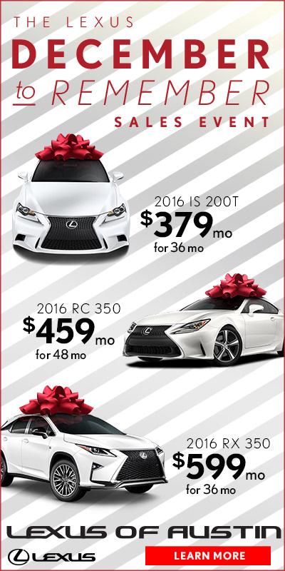 Lexus Of Austin December To Remember On Behance