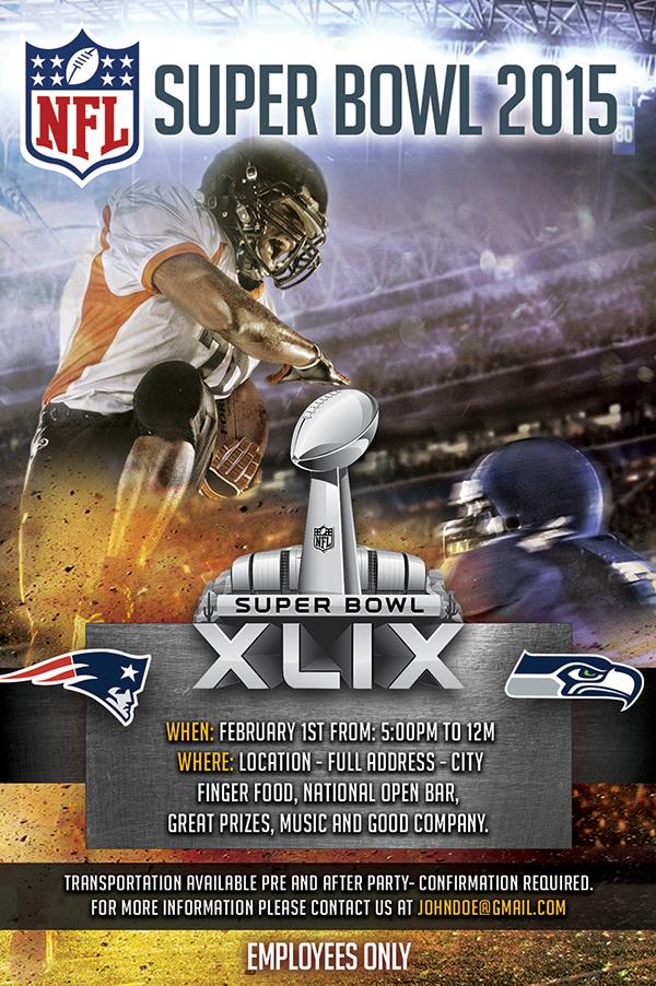 flyer nfl Super Bowl 2015