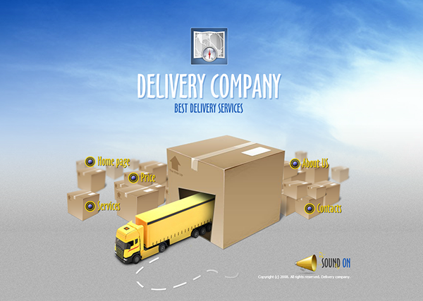 Delivery Company Dynamic Flash Template