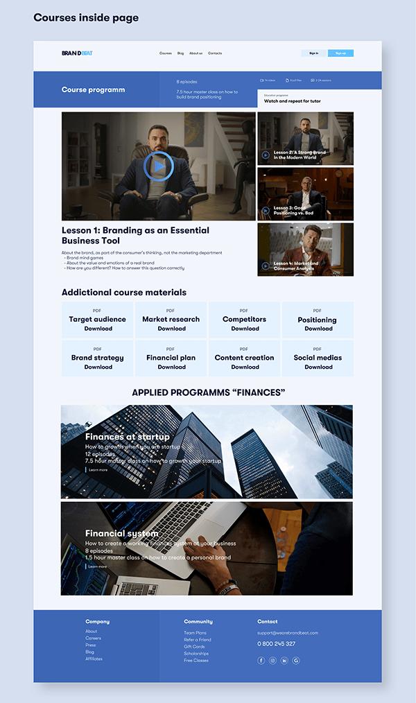 BrandBeat - new economic online education platform