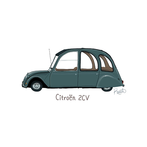 Iconic French Cars On Behance - Cool french cars
