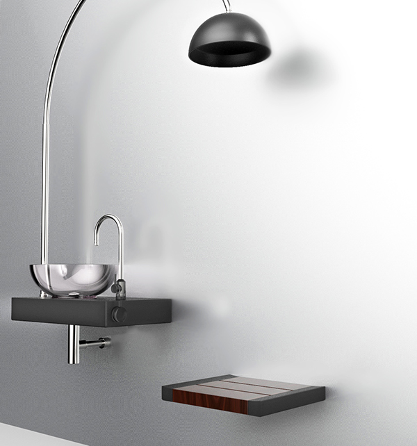 A Seat shower combinates with a sink on Behance