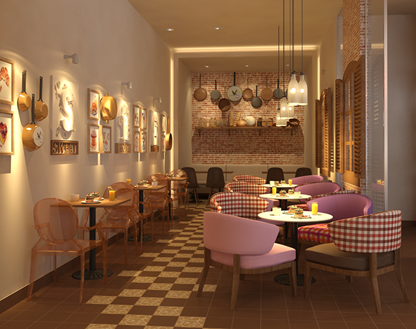 Sweet home bakery on scad portfolios - Interior design students for hire ...