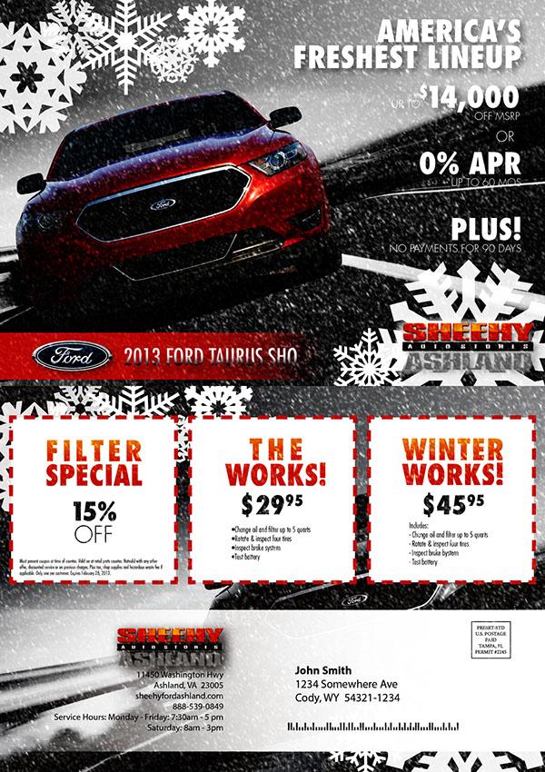 Sheehy Ford Ashland Va >> Sheehy Ford Dealership Postcard On Behance