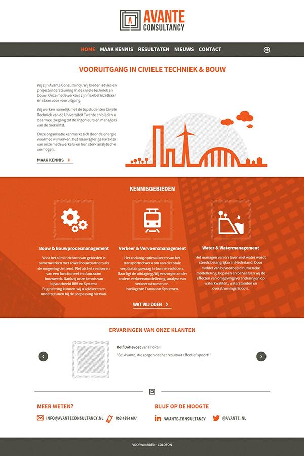 Identiteit huisstijl Webdesign minimal Avante consultancy