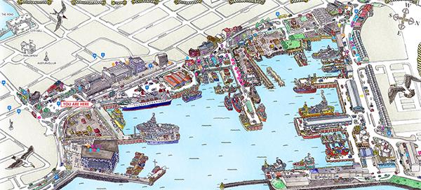 Reykjavíks Old Harbour Map On Behance - Reykjavík map