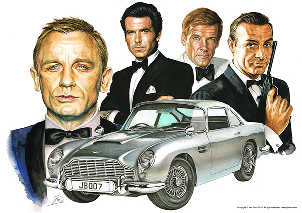 James Bond Aston Martin Db5 On Behance