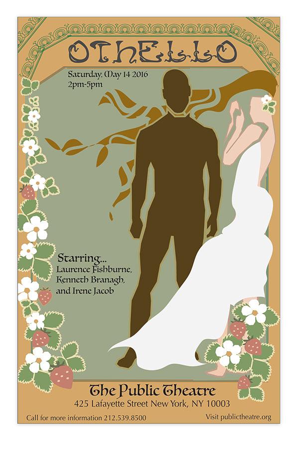 Play Poster for Othello on The Art Institutes Portfolios