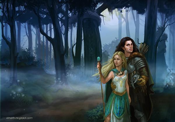 Fantasy painting. Elve...