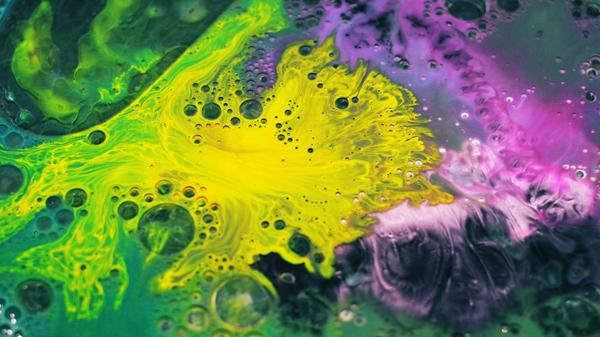 Boris Blank video motion clip water ink color drops gif