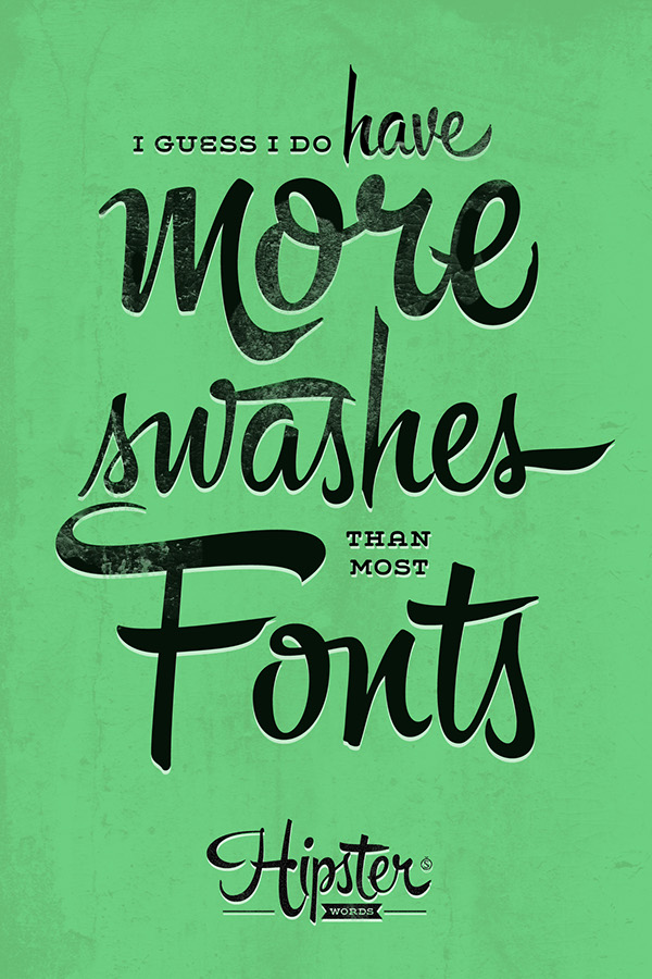 Hipster Words On Behance