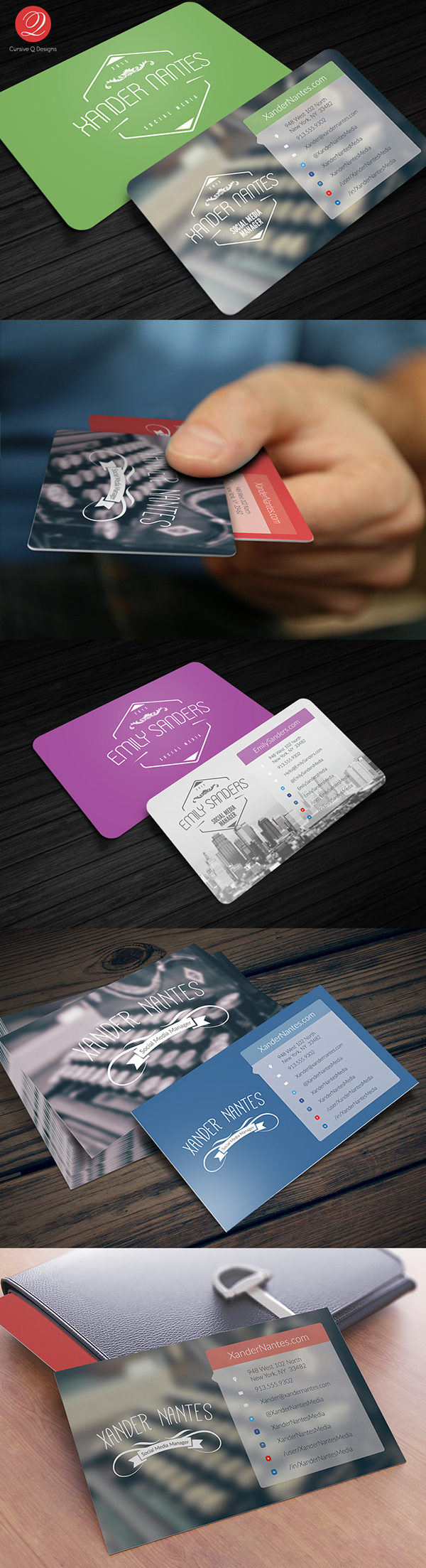 Social Box Social Media Business Card PSD Template On Behance - Social media business card template free