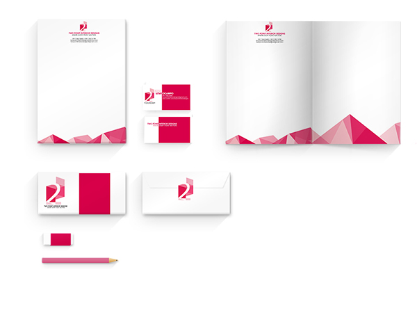 Two Point Interior Designs Marketing Collaterals On Behance