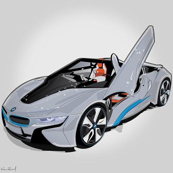 Bmw I8 Spyder Concept On Behance