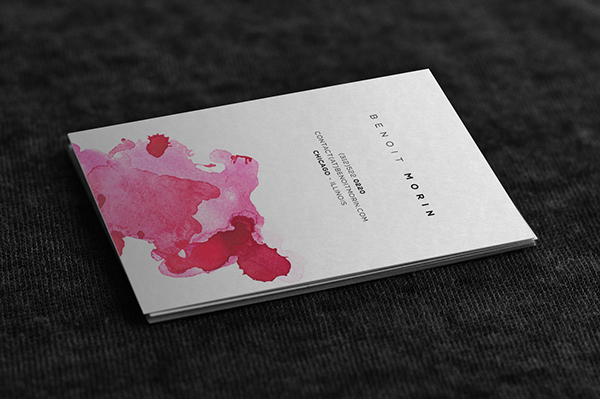Minimalist Watercolor Business Cards On Behance