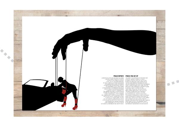 editoria rivista artwork cannibalismo sfruttamento prostituzione creazione
