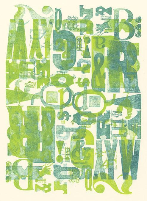 letterpress posters linocut