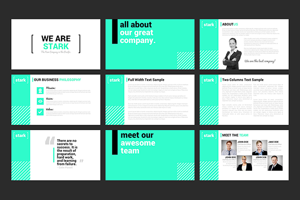 stark - powerpoint template on behance, Presentation templates