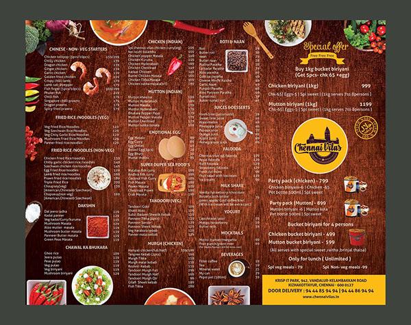 indian hotel menu card pdf