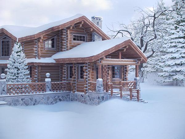 3D house Render Landscape CGI