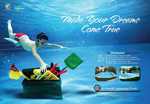 Al Kharafi Swimming Pool Press Campaign On Behance