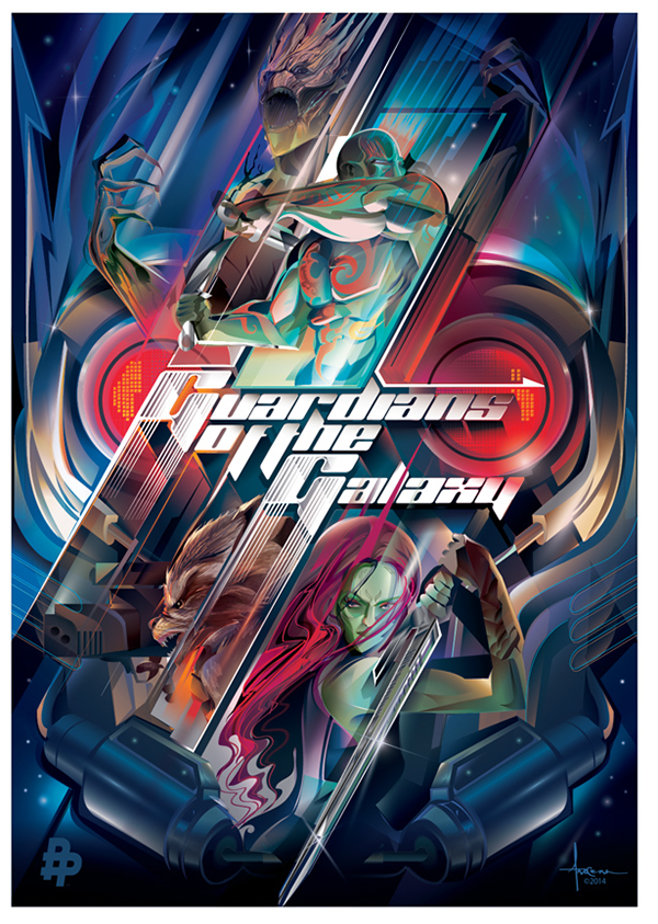 GUARDIANS of the GALAXY-Vector Tribute av Orlando Arocena