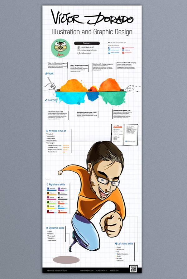 curriculum vitae infographics cv on behance