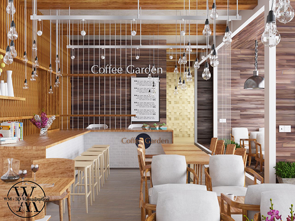 Coffee shop on behance