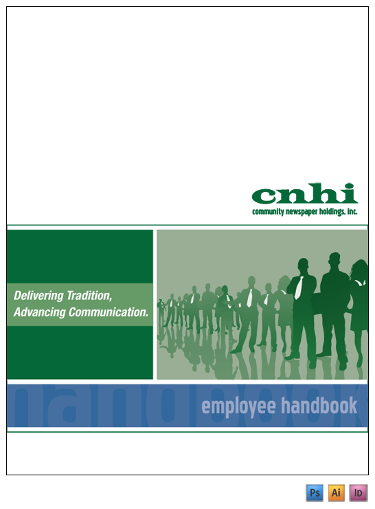 Pin employee handbook cover on pinterest for Employee handbook cover page template