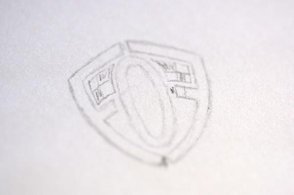 shield Logo Design band black & white checkered bag pipes band branding police branding