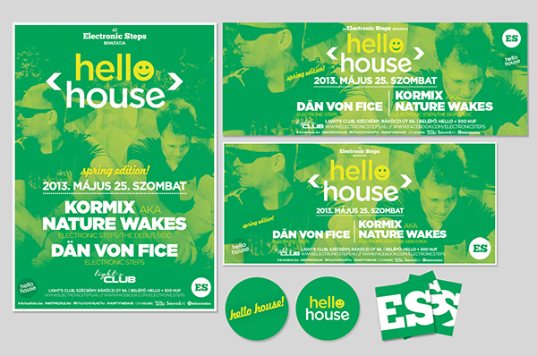hello house  flyer poster brand