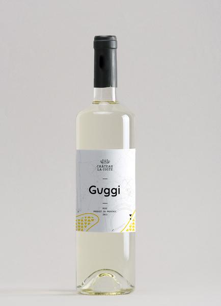 wine Label vin etiquette alcool Provence French bottle gerhy calder artist architectural font