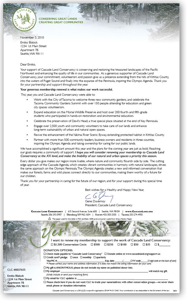 Jana stone direct mail member renewal cascade land conservancy letter reply form with personalized laser letter for 2010 end of year membership mailing thecheapjerseys Choice Image