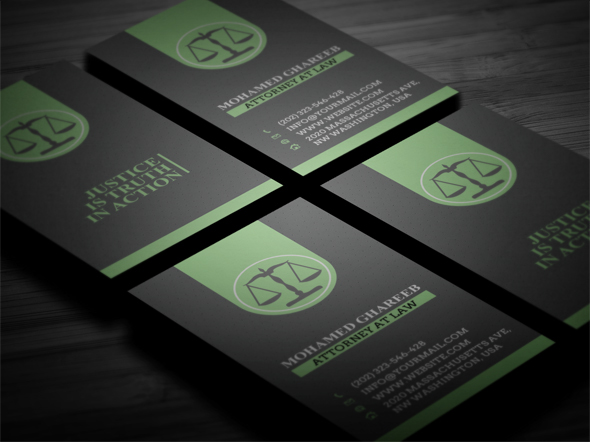 Creative lawyer business card 3 on behance creative and clean lawyer business card editable text layers or colors shape layers in easy way reheart Choice Image