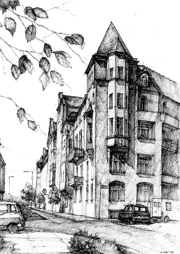 Ink drawings gallery 2014 on behance for Online architecture drawing