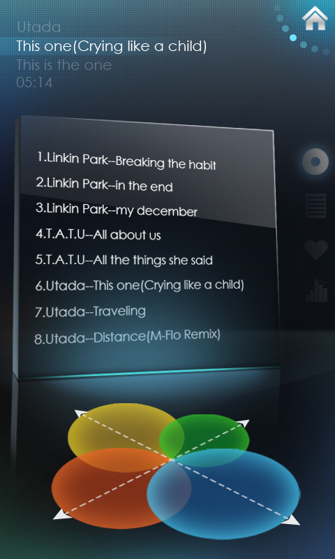 Album android mobile phone Interface