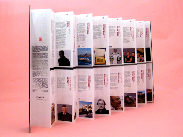 the prince's trust Studio this and that event literature auction brochure