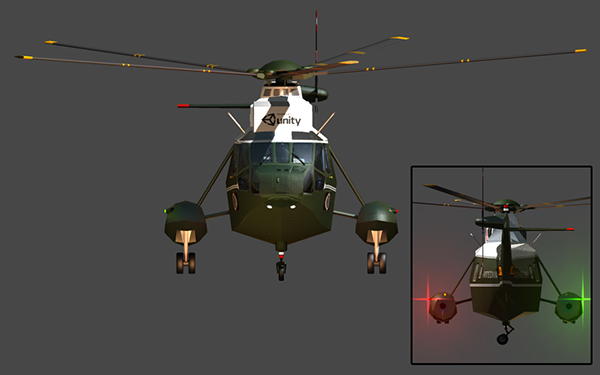 3D Game Assets: Marine Helicopter (Animated) on Pantone