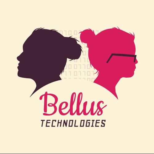 coding female Startup logo binary development Silhouette