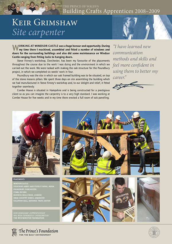 PFBE building craft flyer Display