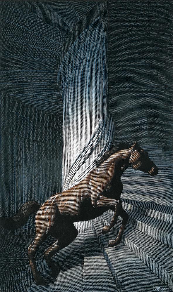 horse usa animal vezo aroundus design Behance line wing